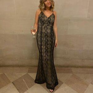 Lulus With Grace Black Lace Mermaid Maxi Dress